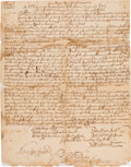 Autographs:Statesmen, [Colonial America]. Period Fair Copy of An Act to Encourage theProsecution of the Indian Enemy and Rebels....