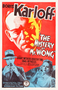 """The Mystery of Mr. Wong (Monogram, 1939). One Sheet (27"""" X 41.5"""")"""