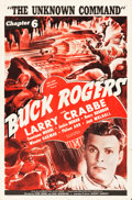 "Movie Posters:Serial, Buck Rogers (Universal, 1939). One Sheet (27"" X 41""). Chapter 6 --""The Unknown Command."". ..."