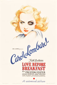 "Love Before Breakfast (Universal, 1936). One Sheet (27.5"" X 41"")"