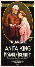 "Movie Posters:Romance, Mistaken Identity (Triangle, 1919). Three Sheet (41"" X 80"").. ..."