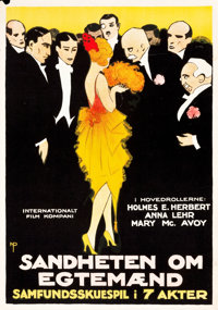 """The Truth About Husbands (Associated First National Pictures,1920). Norwegian One Sheet (26"""" X 37"""")"""