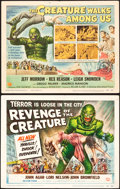 """Movie Posters:Horror, Revenge of the Creature and The Creature Walks Among Us (UniversalInternational, 1955 and 1956). Title Lobby Cards (2) (11""""...(Total: 2 Items)"""