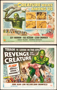 Revenge of the Creature and The Creature Walks Among Us (Universal International, 1955 and 1956). Title Lobby Cards (2)...