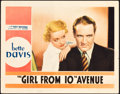 """Movie Posters:Drama, The Girl from 10th Avenue (First National, 1935). Lobby Card (11"""" X14"""").. ..."""