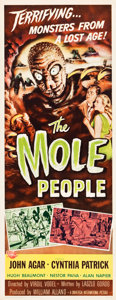 "Movie Posters:Science Fiction, The Mole People (Universal International, 1956). Insert (14"" X36"").. ..."