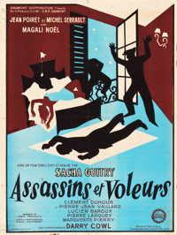 "Lovers and Thieves (Gaumont, 1957). French Affiche (23.25"" X 30.75"")"
