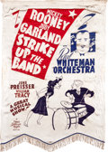 """Movie Posters:Musical, Strike Up the Band (MGM, 1940). Silk Burgee (36.5"""" X 52.5"""").. ..."""