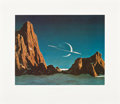 "Movie Posters:Science Fiction, Saturn as Seen from Titan by Chelsey Bonestell (Chelsey Bonestell,1970s). Autographed Art Print (27.5"" X 31.5"").. ..."