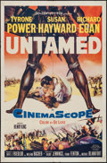 "Movie Posters:Adventure, Untamed & Other Lot (20th Century Fox, 1955). One Sheets (2)(27"" X 41""). Adventure.. ... (Total: 2 Items)"