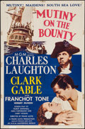 "Movie Posters:Academy Award Winners, Mutiny on the Bounty (MGM, R-1957). One Sheet (27"" X 41""). AcademyAward Winners.. ..."