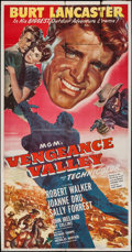 "Movie Posters:Western, Vengeance Valley (MGM, 1951). Three Sheet (41"" X 79""). Western....."