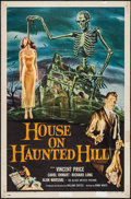 "Movie Posters:Horror, House on Haunted Hill (Allied Artists, 1959). One Sheet (27"" X41""). Horror.. ..."