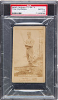 Baseball Cards:Singles (Pre-1930), 1887 N690 Kalamazoo Bats Tom Poorman PSA Good+ 2.5 - The Only PSAExample! ...