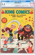 Golden Age (1938-1955):Cartoon Character, King Comics #1 (David McKay Publications, 1936) CGC VG 4.0 Cream tooff-white pages....
