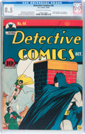 Golden Age (1938-1955):Superhero, Detective Comics #44 (DC, 1940) CGC VF+ 8.5 Off-white to white pages....