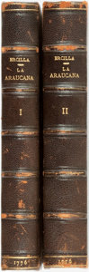 Books:Literature Pre-1900, [Spanish Literature]. Alonso de Ercilla. La Araucana, Vols.I & II. Madrid: Antonio de Sancha, 1776. ... (Total: 2Items)