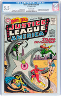 Silver Age (1956-1969):Superhero, The Brave and the Bold #28 Justice League of America (DC, 1960) CGCFN- 5.5 Off-white pages....