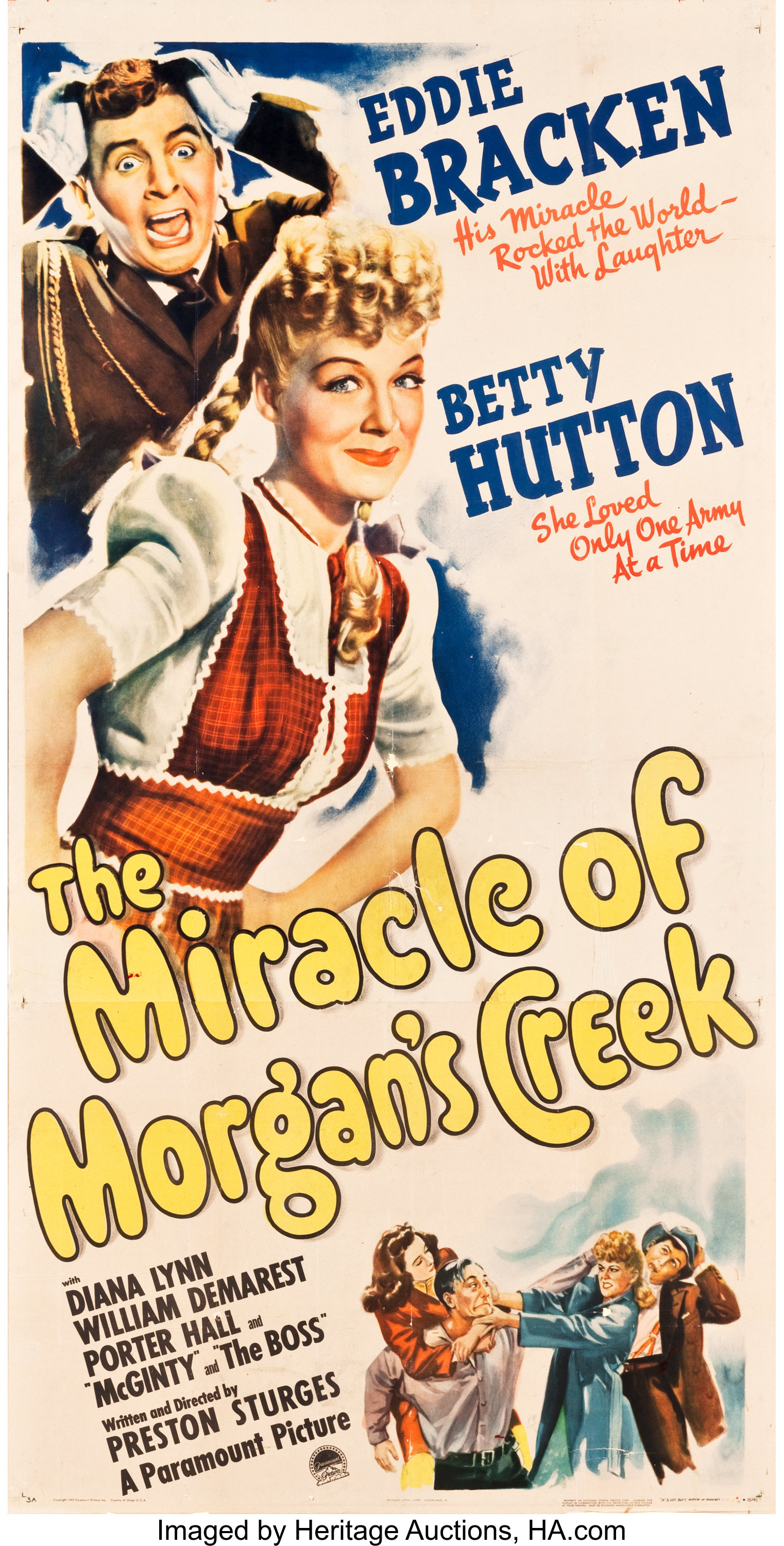 The Miracle of Morgan/'s Creek Poster////The Miracle of Morgan/'s Creek Movie Poster