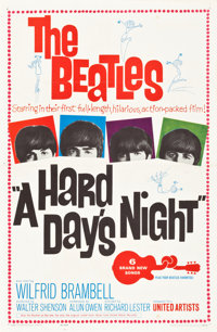 """A Hard Day's Night (United Artists, 1964). One Sheet (27"""" X 41"""")"""