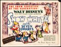 "Movie Posters:Animation, Snow White and the Seven Dwarfs (RKO, 1937). Title Lobby Card (11""X 14"").. ..."