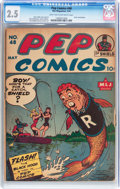 Golden Age (1938-1955):Miscellaneous, Pep Comics #48 (MLJ, 1944) CGC GD+ 2.5 Light tan to off-white pages....