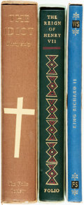 Books:Fine Press & Book Arts, [The Folio Society] Group of Three Titles. Includes titles byShakespeare, Francis Bacon and Dostoyevsky. The Folio Society,...(Total: 3 Items)