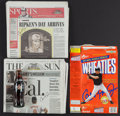 Autographs:Baseballs, Cal Ripken Jr. Signed Newspapers (2), Wheaties Box and CokeBottle....