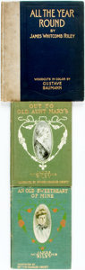 Books:Literature 1900-up, James Whitcomb Riley. Group of Three Books. Two illustrated byHoward Chandler Christy. Indianapolis: Bobbs-Merrill, [variou...(Total: 3 Items)