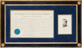 Autographs:U.S. Presidents, Abraham Lincoln Appointment Signed....