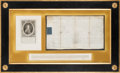Autographs:Non-American, Charles Cornwallis, 1st Marquess Cornwallis, Appointment Signed...