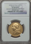 Italy:Papal States, Italy: Papal States. Gregory XVI gold 10 Scudi 1836-R XF Details(Mount Removed Rim Filed) NGC,...