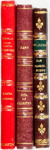 Books:Literature Pre-1900, [Spanish Literature]. Group of Three Titles. Various publishers, 1850-1931. ... (Total: 3 Items)