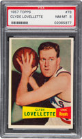 Basketball Cards:Singles (Pre-1970), 1957 Topps Clyde Lovellette #78 PSA NM-MT 8....