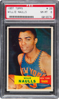 Basketball Cards:Singles (Pre-1970), 1957 Topps Willie Naulls #29 PSA NM-MT 8 - None Higher....