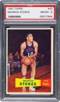 Basketball Cards:Singles (Pre-1970), 1957 Topps Maurice Stokes #42 PSA NM-MT 8....