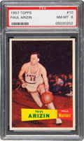 Basketball Cards:Singles (Pre-1970), 1957 Topps Paul Arizin #10 PSA NM-MT 8....