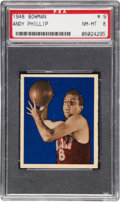 Basketball Cards:Singles (Pre-1970), 1948 Bowman Andy Phillip #9 PSA NM-MT 8....