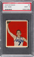 Basketball Cards:Singles (Pre-1970), 1948 Bowman Mel Riebe #8 PSA Mint 9 - Pop One, One Higher....