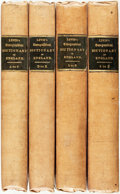 Books:World History, Samuel Lewis. A Topographical Dictionary of England. London: S. Lewis, 1831. Four volumes. Lacking atlas volume. Ori... (Total: 4 Items)