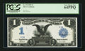 Large Size:Silver Certificates, Fr. 235 $1 1899 Silver Certificate Serial Number One PCGS VeryChoice New 64PPQ.. ...