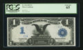 Large Size:Silver Certificates, Fr. 234 $1 1899 Silver Certificate Serial Number One PCGS Gem New65.. ...
