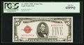 Small Size:Legal Tender Notes, Fr. 1528* $5 1928C Legal Tender Note. PCGS Gem New 65PPQ.. ...