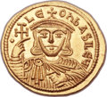 "Ancients:Byzantine, Ancients: Leo V, ""the Armenian"" (AD 813-820). AV solidus (21mm,4.44 gm, 6h)...."