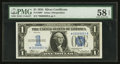 Small Size:Silver Certificates, Fr. 1606* $1 1934 Silver Certificate. Serial Number 69. PMG Choice About Unc 58 EPQ.. ...
