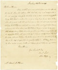 "Autographs:Military Figures, John Barry Autograph Letter Signed ""John Barry,"" one page,8"" x 9.75"". Strawberry Hill, December 22, 1792. To Michael M....(Total: 1 Item)"