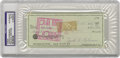 Autographs:Checks, 1966 Jackie Robinson Signed Check. Ten years after the bravebaseball pioneer hung up his speedy spikes, he filled out and ...