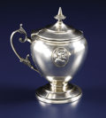 Silver Holloware, American:Other , An American Coin Silver Mustard Pot. Wood & Hughes, New York,New York. Circa 1860. Silver and silver gilt. Marks: W &H...