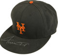 "Autographs:Letters, Willie Mays Signed New York Giants Cap. Willie Mays, the ""Say HeyKid"" added his distinctive and bold signature to the bill..."