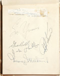 Autographs:Letters, 1950's Autograph Book with Hornsby/DiMaggio. Autograph book fromthe era of the 1950's, filled with many signatures of note...